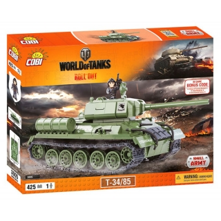 Cobi 3005 World of Tanks T34/85, 425 k, 1 f