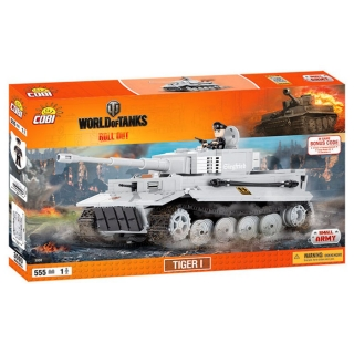 Cobi 3000 World of Tanks Tiger I 555 k, 1 f