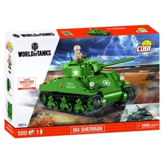 Cobi 3007 World of Tanks M4 Sherman A1/Firefly 450 k, 1 f