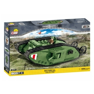 Cobi 2972 Great War Tank Mark I, 605 k, 1 f